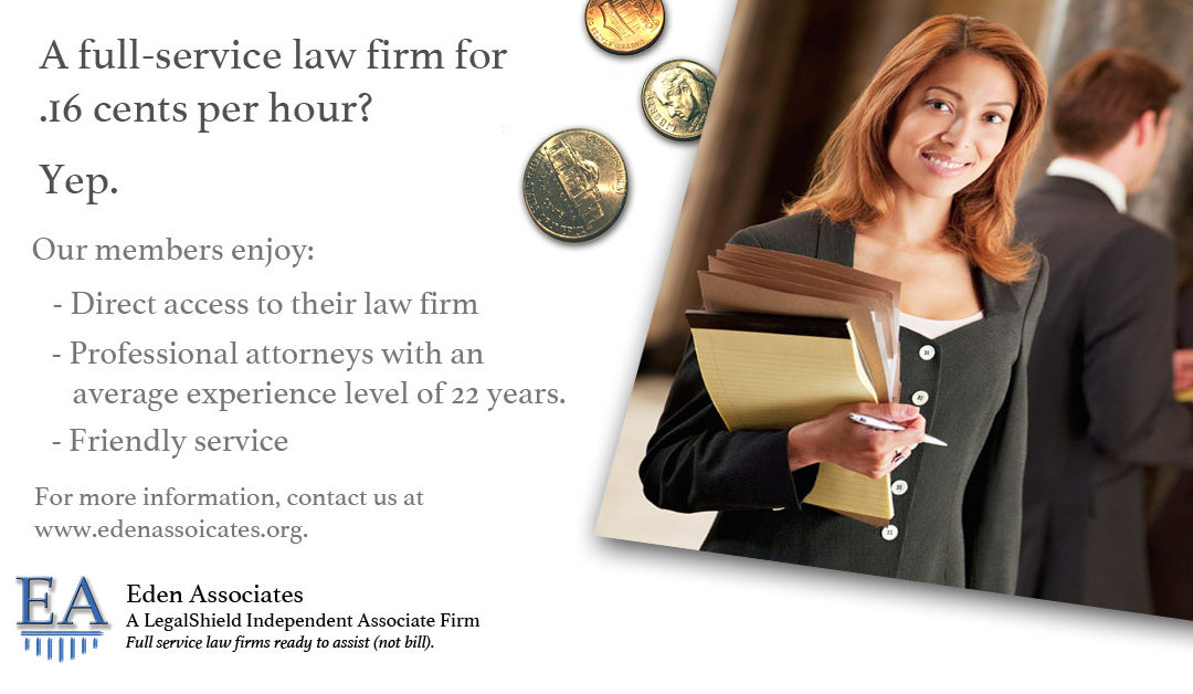 A Full-Service Law Firm For .16 Cents Per Hour?  Yep.